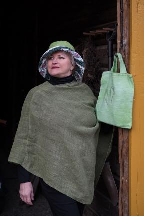 Pellavahattu, vihreä