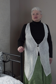Kaunokki -liivi, valkoinen