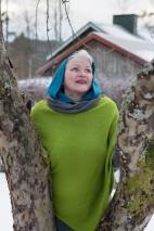 Talventähti -poncho, vihreä